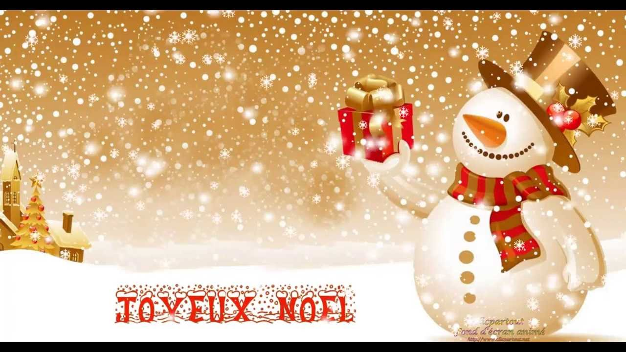 fond cran anim screensaver bonhomme de neige de noel youtube. Black Bedroom Furniture Sets. Home Design Ideas