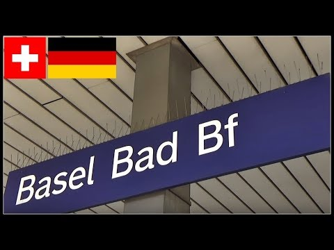 German Railways Station in Switzerland / Basel Badischer Bahnhof, Schweiz 2018