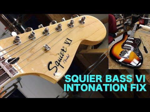 Squier Bass VI Intonation Fix