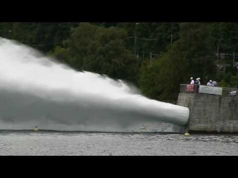 Test de vidange du barrage de l'Hongrin