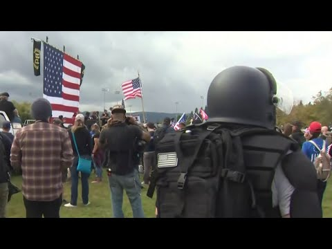 Proud Boys Hate Group Fails To Draw Thousands To Portland   MSNBC