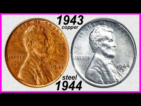 $1,700,000.00 PENNY NETS 8 MILLION! 1943 COPPER & 1944 STEEL CENTS! RARE ERROR COINS WORTH BIG MONEY