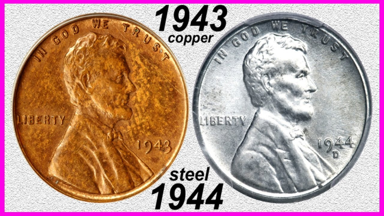 $1,700,000 00 PENNY NETS 8 MILLION! 1943 COPPER & 1944 STEEL CENTS! RARE  ERROR COINS WORTH BIG MONEY