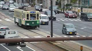 長崎市電 路面電車500形「赤池行き」長崎駅付近通過