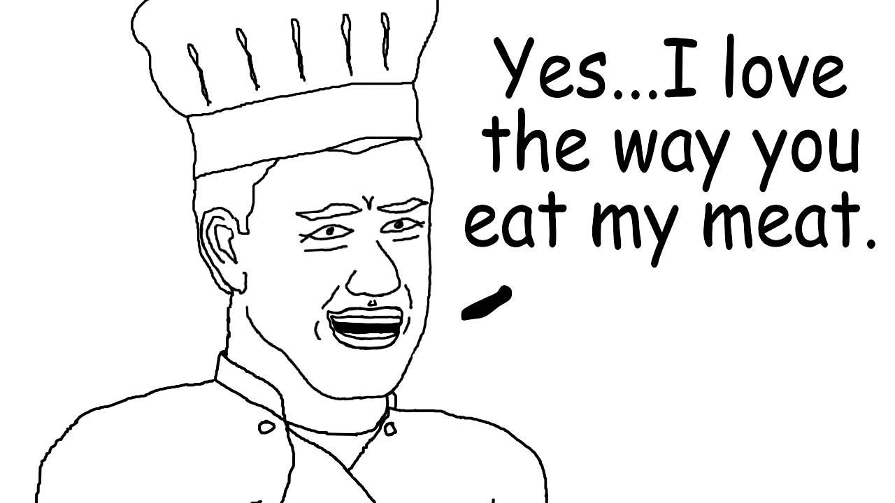 If I were on Master Chef. Gordan Ramsey Cartoon Parody. - YouTube