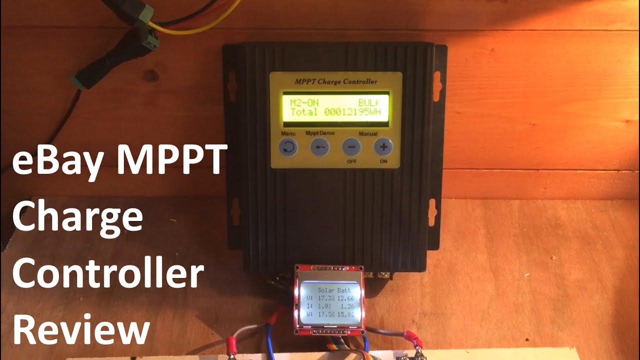 Ebay Mppt Solar Charge Controller Review 12v Solar Shed Youtube