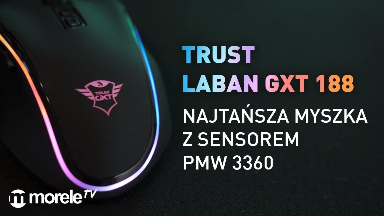 Najtańsza myszka z sensorem PMW 3360 | Trust Laban GXT 188