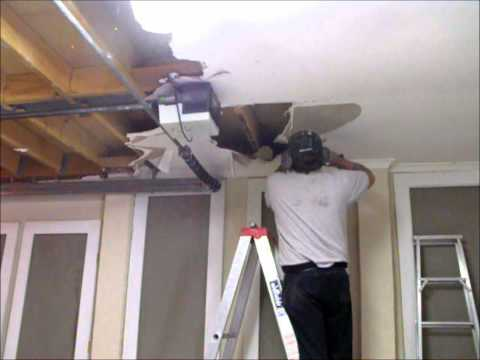 Preparing a water damaged plasterboard garage ceiling ~ Hawthorn Plaster Repairs