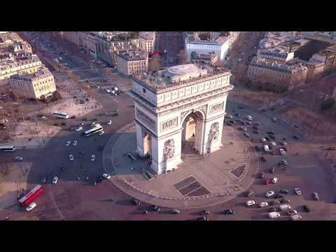 Arc de Triomphe by drone [4K]