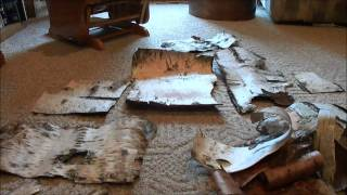 Birch Bark For Crafting Re-purposing Picture Frames.