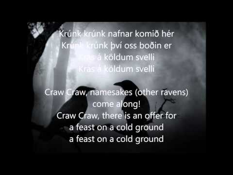 Valravn - Krummi Lyrics in Icelandic & English