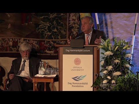 UN Chief delivers the annual Dag Hammarskjöld Lecture