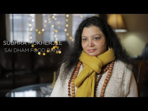Subhra Mukherjee from the Sai Dham Food Bank in Mississauga