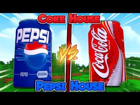 Minecraft - COKE HOUSE vs PEPSI HOUSE!!