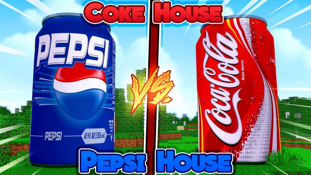 Pepsi Vs Coca Cola Halloween Ad.Minecraft Coke House Vs Pepsi House