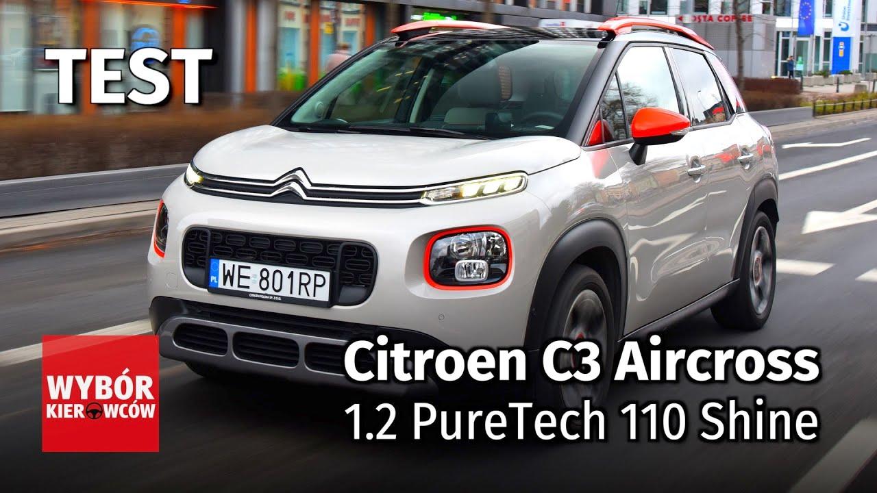 citroen c3 aircross 1 2 puretech 110 shine motor test pl recenzja opinie po polsku youtube. Black Bedroom Furniture Sets. Home Design Ideas