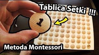 Tablica Setki !!! - Jak Zrobiłem Pomoce Montessori? + Wyjazd z Przyczepą Kempingową (Vlog #264)