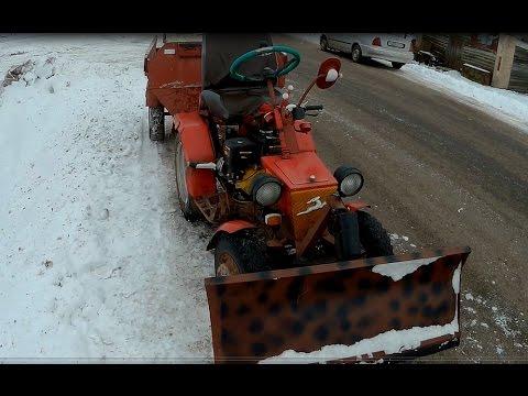 Обзор трактора из мотоблока МТЗ. Модель №2