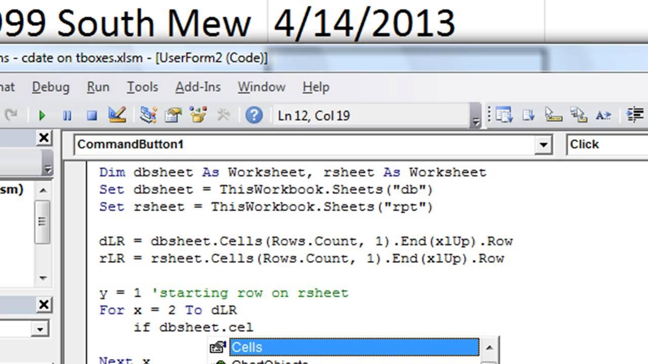Excel VBA Tips n Tricks #25 Comparing TextBox Dates in Worksheet Loop User Q  n A