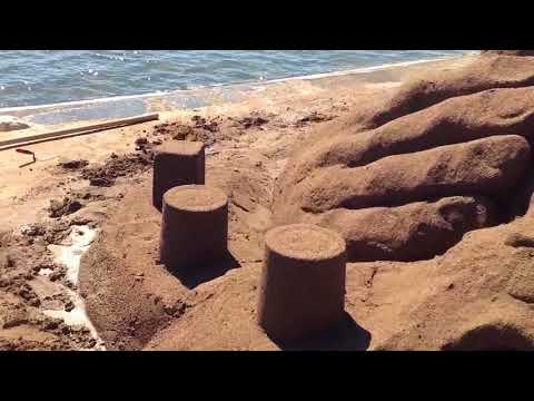 Sand Sculpture by Yamen Yousef Syria 2016 نحت على الرمل لِ يامن يوسف سوريا