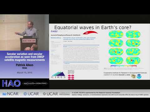 Patrick Alken | NOAA | Secular variation and secular acceleration as seen from DMSP