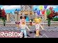Goldie & Titi Games Having fun in Roblox Disney Themed Park