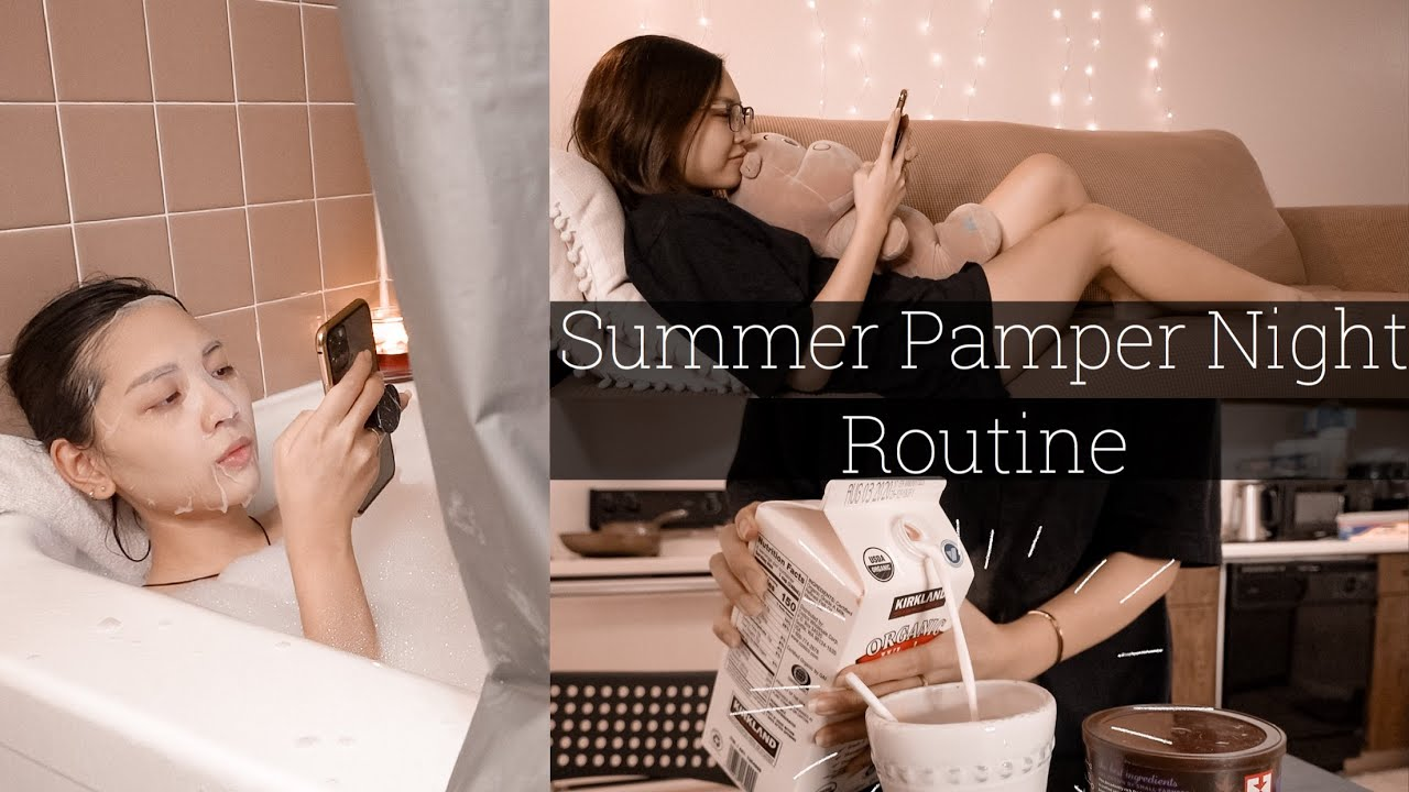 Summer Pamper Night Routine - 1 Buổi Tối Mùa Hè Chăm Sóc Bản Thân | Con Thỏ