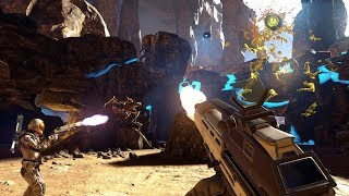 FARPOINT VR MULTIPLAYER GAMEPLAY W AIM CONTROLLER! KILLING NEW ENEMIES, SURVIVAL MISSIONS & MORE!