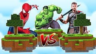 THOR ADASI VS ÖRÜMCEK ADAM ADASI VS HULK ADASI! 😱 - Minecraft