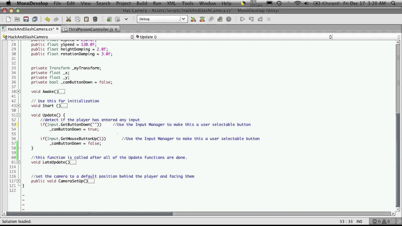 89  Unity3d Tutorial - Input Manager part 1