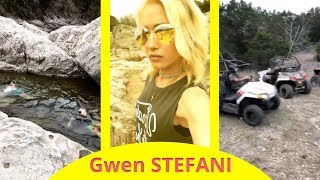 Gwen Stefani at the lake with family - Instagram - march 27 2018