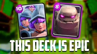 Clash Royale - This Deck Is FILTHY! Golem & Three Musketeers