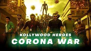 Kollywood Heroes - Corona War Animation Video