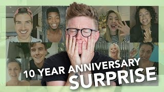 10 YEAR SURPRISE REACTION | Tyler Oakley