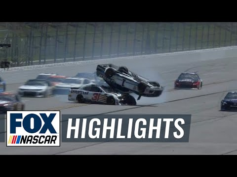 Jamie McMurray barrel rolls during final practice | 2018 Talladega | FOX NASCAR