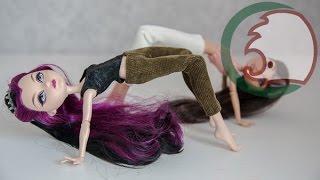 Как сделать лосины для куклы. How to make leggings for doll.