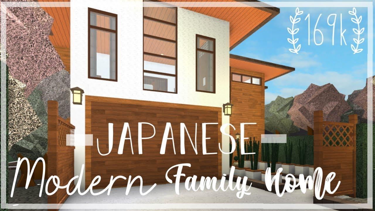 Roblox Bloxburg Japanese Modern Family Home Tour Youtube