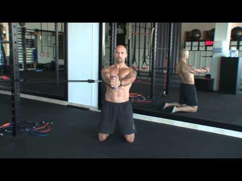 Band Core Training: Band Kneeling Anti Rotation Hold