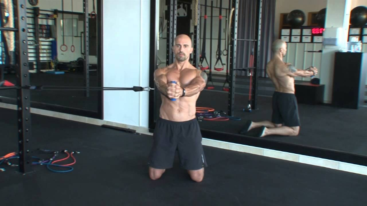 45b584deeb19 Band Core Training  Band Kneeling Anti Rotation Hold - YouTube