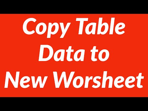 Copy table data to new worsheet with vba youtube copy table data to new worsheet with vba ibookread Read Online