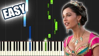 Speechless - Aladdin 2019 (Naomi Scott) | EASY PIANO TUTORIAL by Betacustic