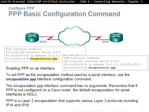 3.3  Configuring PPP (CCNA 4: Chapter 3: Point-to-Point Connections)