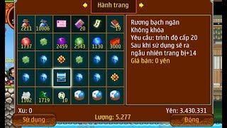 Ninja School Online : Khô Máu Mở 3000 Hộp Bánh Thượng Hạng Săn Rương