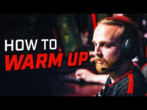 HOW A PRO WARMS UP IN CSGO