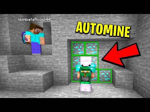 Minecraft Noob Catches Me Using Auto Mine