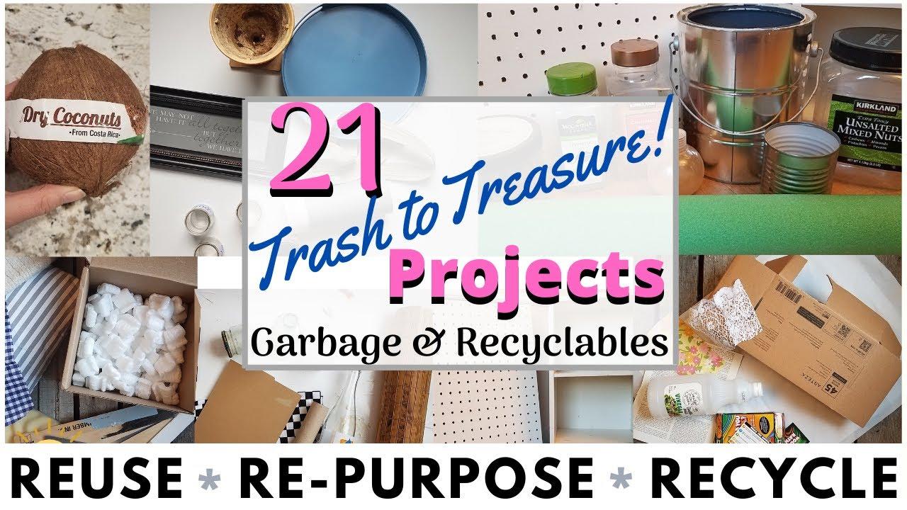 21 Diy Recycle Crafts Trash To Treasure Cardboard Glass