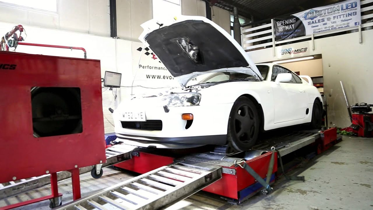 toyota supra twin turbo bpu auto uk spec dyno 380.1 hp - youtube