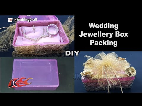How to Make Jewelry Box | Wedding Trousseau Packing ideas | JK Wedding Craft 136
