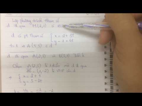 Hình học 10 - Phương pháp tọa độ trong mặt phẳng - Phương trình đường thẳng - Bài tập (Phần 1)