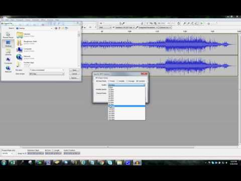 Compress MP3 files with Audacity